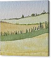Tuscan Hillside Four Canvas Print