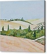 Tuscan Hillside One Canvas Print