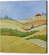Tuscan Hillside Two Canvas Print