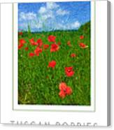 Tuscan Poppies Poster Canvas Print