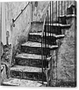 Tuscan Staircase Bw Canvas Print