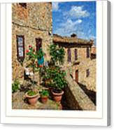 Tuscan Terrace Poster Canvas Print