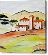 Tuscany-again And Again Canvas Print