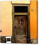 Tuscany Chair With Door Canvas Print