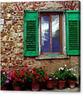 Tuscany - Flower Pots In Chianti Canvas Print
