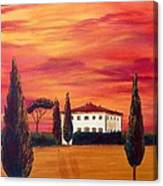 Tuscany In Red Canvas Print