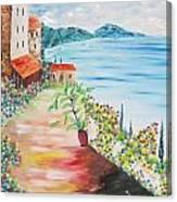 Tuscany Seaside Canvas Print