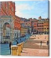 Tuscany Town Center Canvas Print