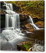 Tuscarora Falls In Fall Canvas Print