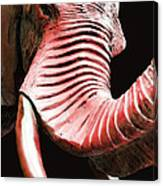 Tusk 4 - Red Elephant Art Canvas Print