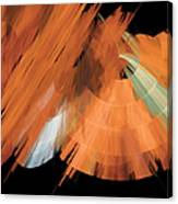 Tutu Stage Left Peach Abstract Canvas Print
