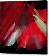 Tutu Stage Left Red Abstract Canvas Print