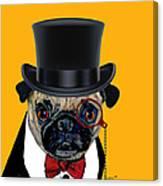 Tux Pug Canvas Print