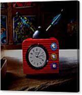 Tv Clock Canvas Print