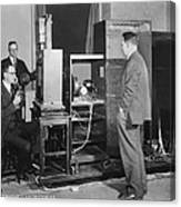 Tv Demonstration At Bell Labs Canvas Print