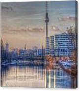 Tv Tower Sunset Canvas Print