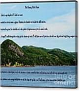 Twenty Third Psalm And Mountains Canvas Print