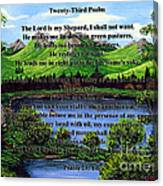 Twenty-third Psalm And Twin Ponds Canvas Print