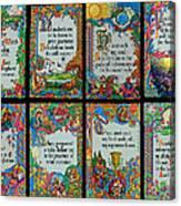 Twenty Third Psalm Collage 2 Canvas Print