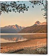 Twilight At Redfish Lake  Canvas Print