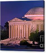 Twilight At The Jefferson Memorial Canvas Print