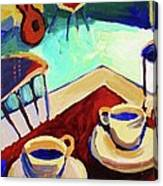 Twilight Coffee Cafe Canvas Print