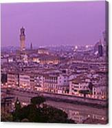 Twilight, Florence, Italy Canvas Print