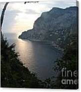 Twilight Glow In Capri Canvas Print