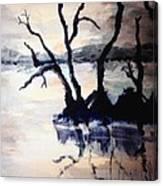 Twilight Lake Sunset Canvas Print