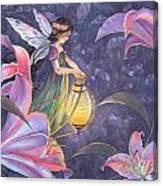 Twilight Lilies Canvas Print