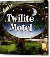 Twilight Motel Canvas Print