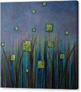 Twilight N Fireflies Canvas Print