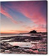 Twilight On Harkness Rocks Bamburgh Canvas Print