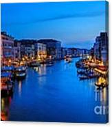 Twilight On The Grand Canal Canvas Print