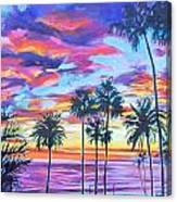 Twilight Palms Canvas Print