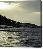 Sunset On The Beach - Twilight Symphony Canvas Print