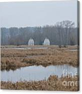 Twin Barns Canvas Print
