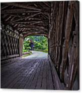 Twin Covered Bridges North Hartland Vermont Canvas Print