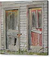 Twin Doors In Watercol Canvas Print