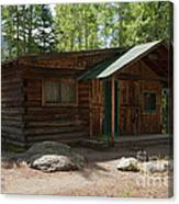 Twin No. 2 Cabin At The Holzwarth Historic Site Canvas Print
