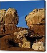 Twin Rocks Capitol Reef National Park Utah Canvas Print