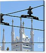 Twin Spires And Trolley Lines Canvas Print