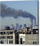 Twin Towers Burning Canvas Print