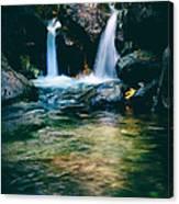 Twin Waterfall Canvas Print