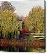 Twin Willows Canvas Print