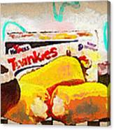 Twinkies Cupcakes Ding Dongs Gone Forever Canvas Print