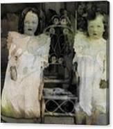 Twins Julia And Jim Cannon Circa 1903 Canvas Print
