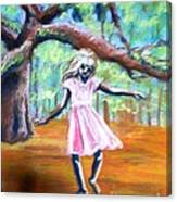Twirl Under The Oaks Canvas Print