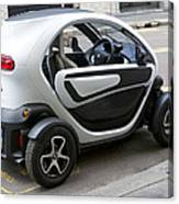 Twizy Rental Electric Car Side And Back Milan Italy Canvas Print