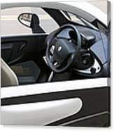 Twizy Rental Electric Car Side And Interior Milan Italy Canvas Print